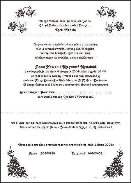 Zaproszenia ślubne Z010002br