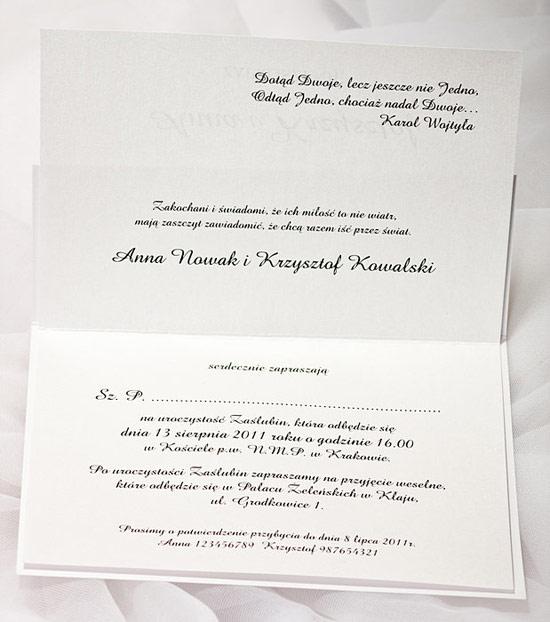 Zaproszenia ślubne Z021010 Jasmine