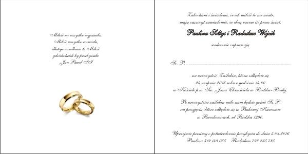 Zaproszenia Na ślub Z052003