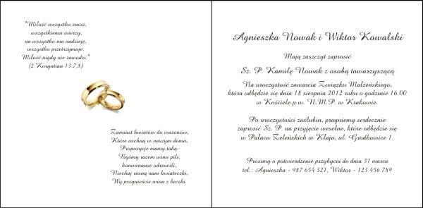 Zaproszenia ślubne Zp032 Urania Z Tłoczeniami I Termografią