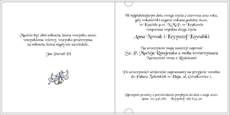 Zaproszenie Zp006 Dione