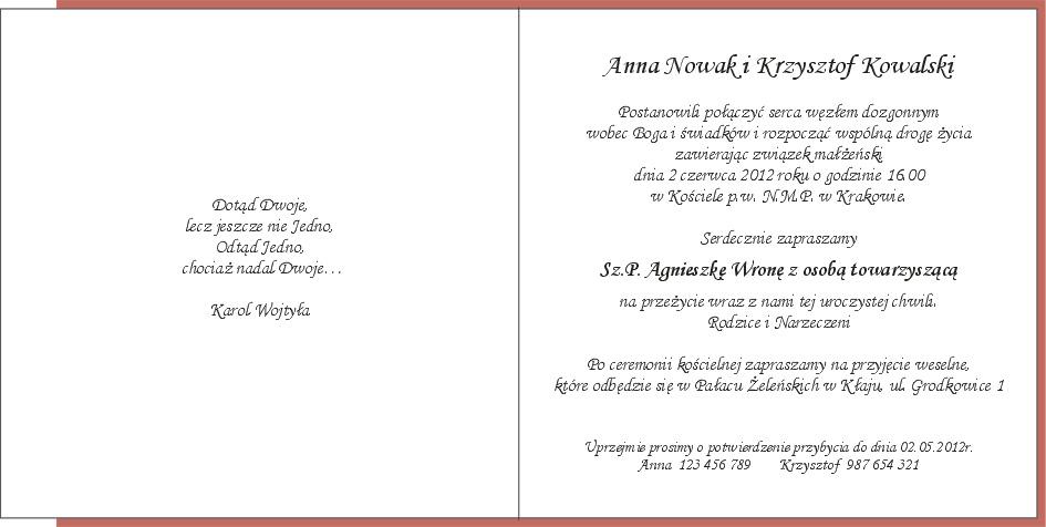 Zaproszenie Zp003 Atena