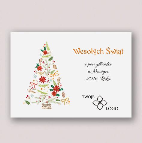 Biznesowe kartki świąteczne z logo